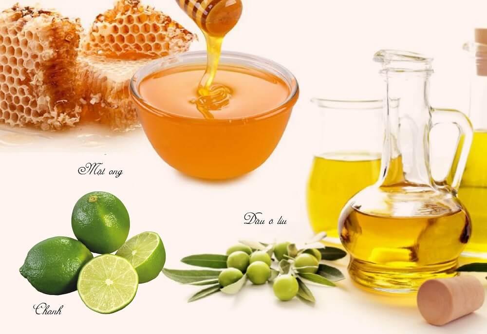 Làm trắng da bằng chanh, mật ong và dầu ô liu