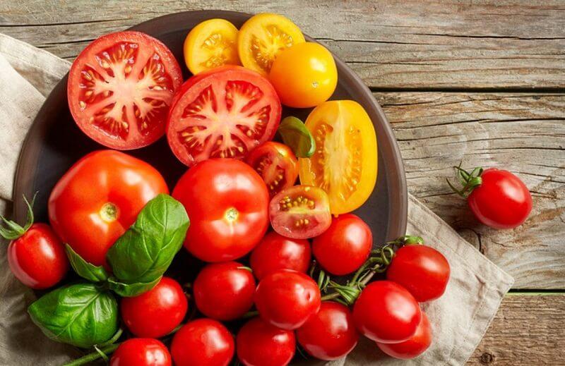 cà chua là một trong những loại trái cây giúp giảm cân hiệu quả