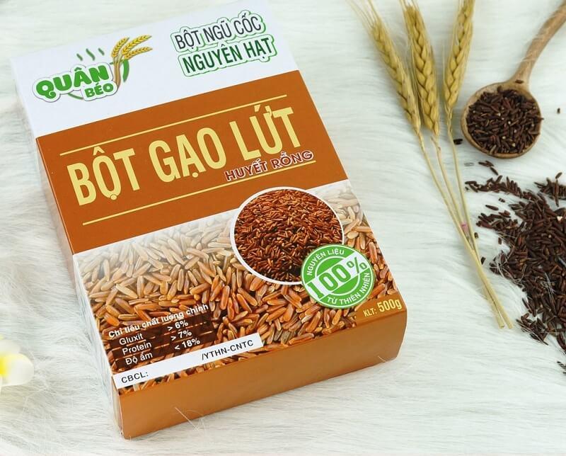 bột gạo lứt giảm cân