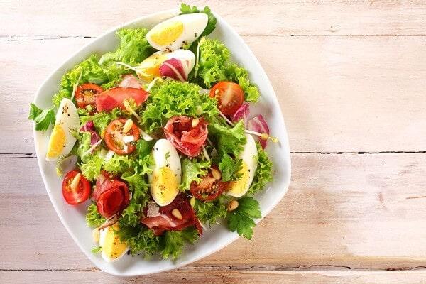 cách làm salad trứng
