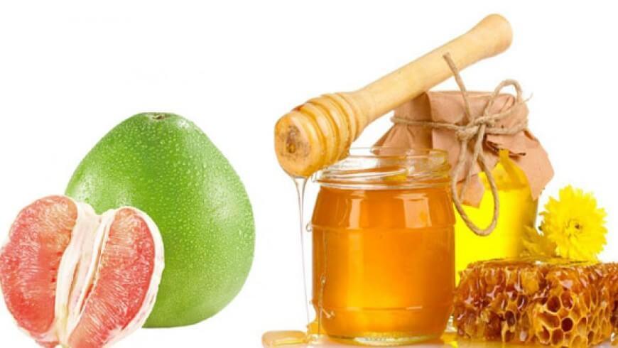 giảm cân bằng bưởi và mật ong