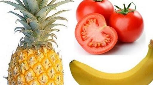 giảm cân bằng chuối cà chua