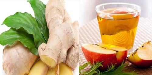 giảm cân với giấm táo và gừng