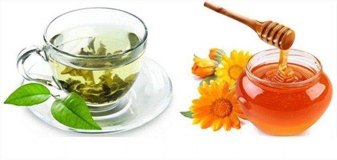 giảm cân hiệu quả bằng mật ong và trà xanh