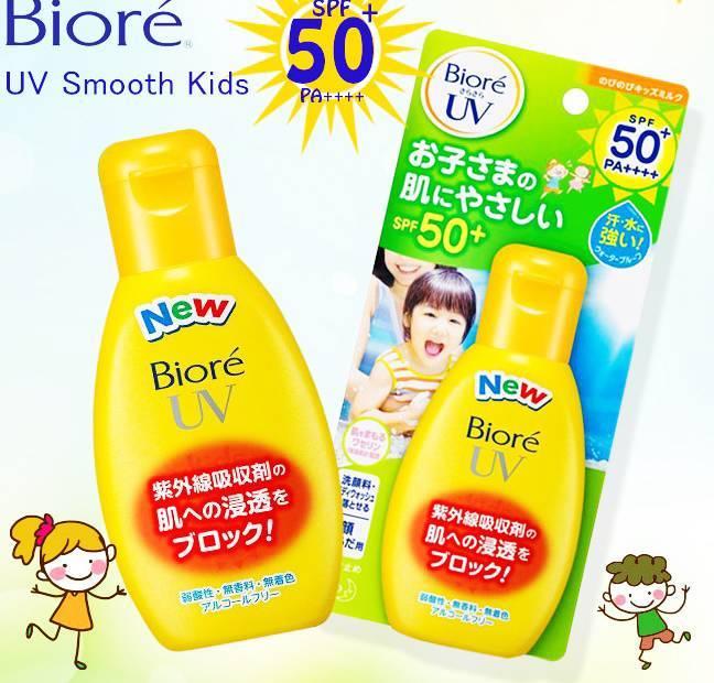 kem chống nắng cho trẻ em biore