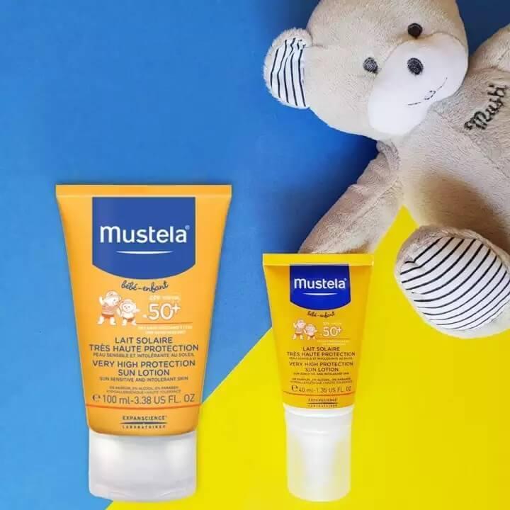 kem chống nắng mustela cho bé