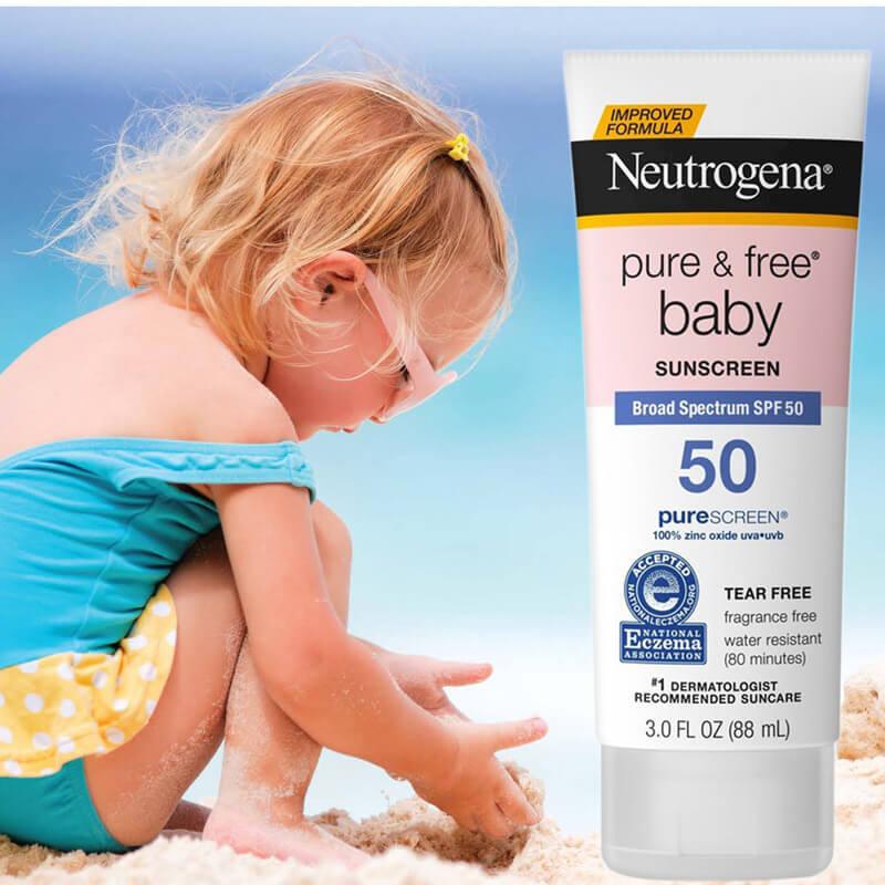 kem chống nắng neutrogena cho bé