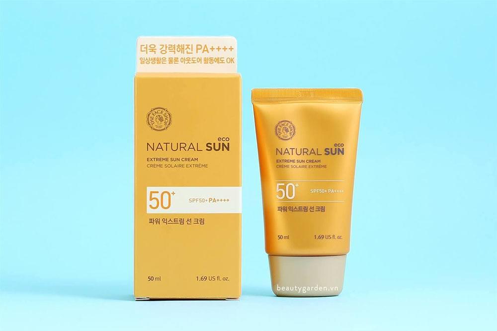 Kem chống nắng k cồn The Face Shop Natural Sun Eco