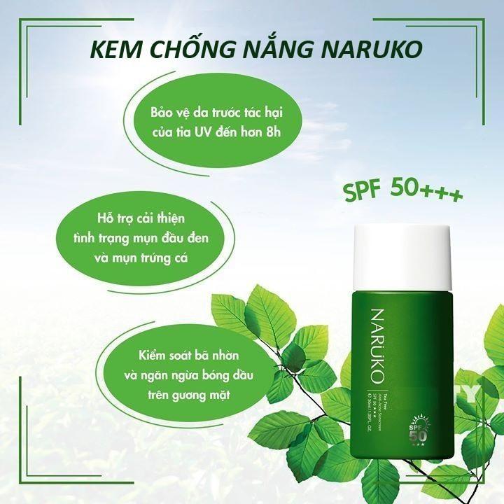 Kem chống nắng Naruko Tea Tree Anti Acne Sunscreen SPF50